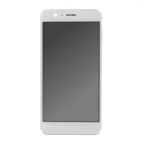 Ecran lcd Huawei Honor 8 sur chassis blanc sans logo