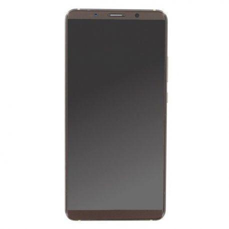 Ecran lcd Huawei Mate 10 Pro sur chassis marron moka sans logo