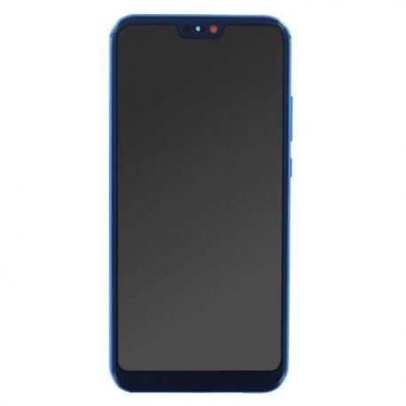 Ecran lcd Huawei P20 Lite sur chassis bleu sans logo